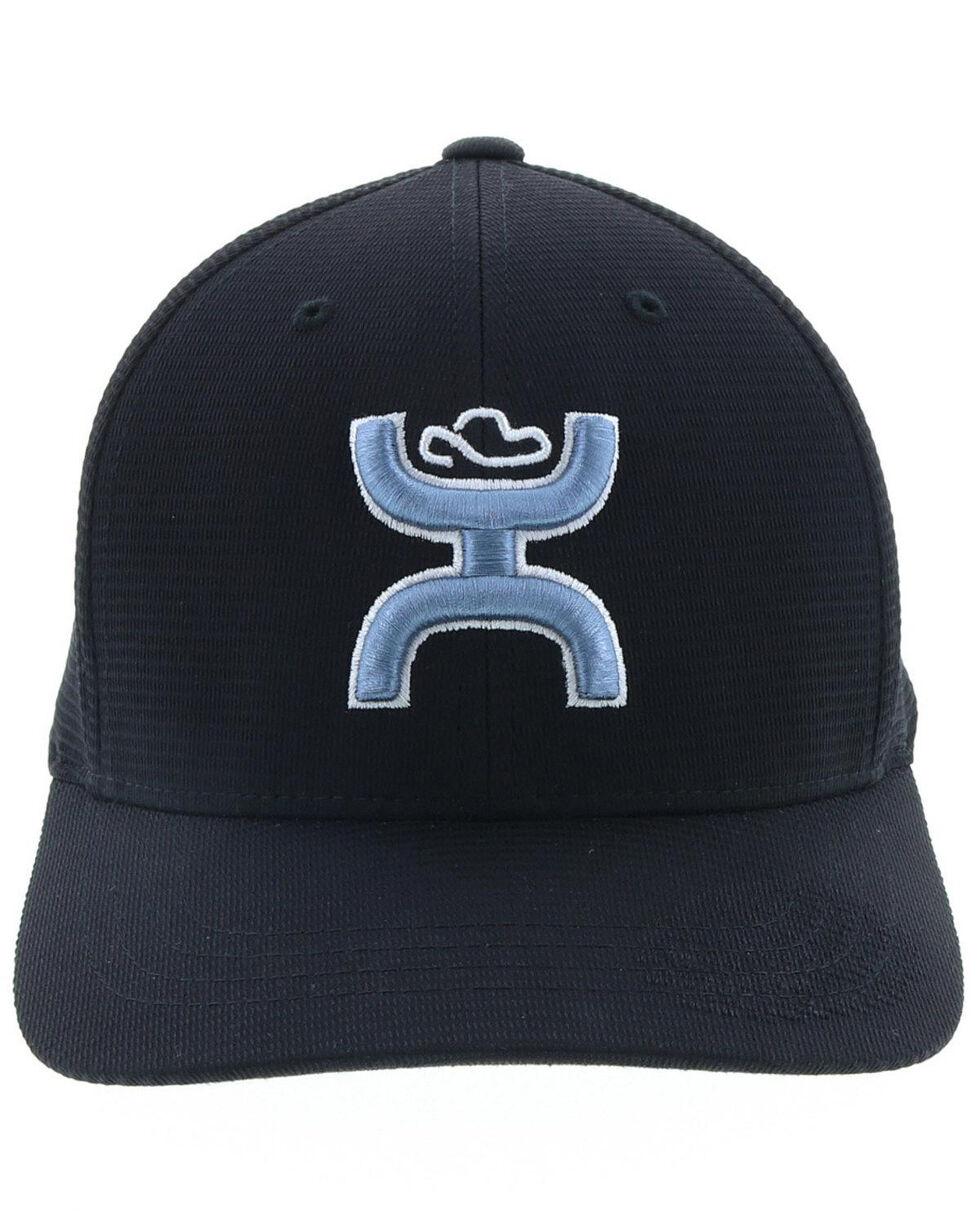 HOOey Men's Unrung Blue Logo Ball Cap , Black, hi-res