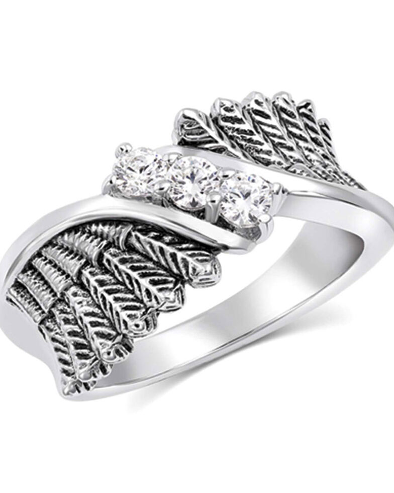 Montana Silversmiths Women's Spread Your Wings Ring, Silver, hi-res