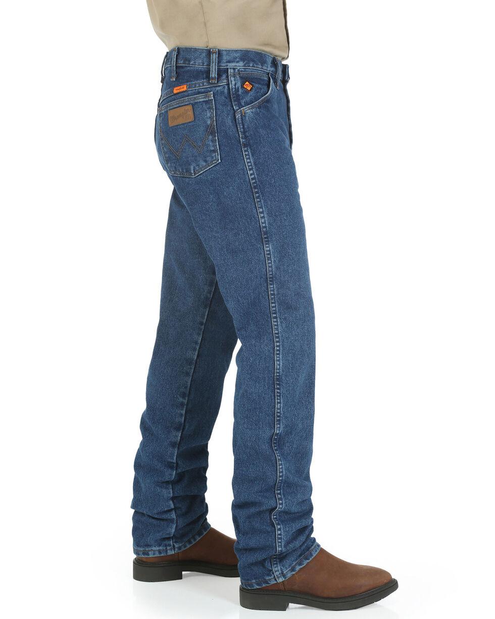 Wrangler Men's Flame Resistant Original Fit Work Jeans , Blue, hi-res