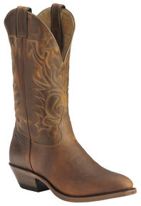 Boulet Cowboy Boots - Medium Toe, Tan, hi-res