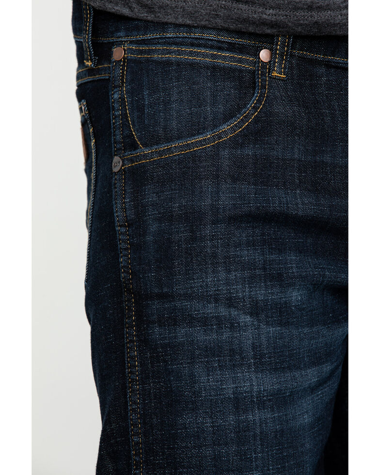 Wrangler Retro Men's Dax Dark Stretch Slim Bootcut Jeans , Indigo, hi-res