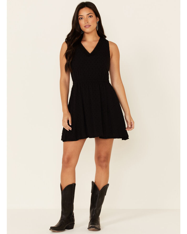 Idyllwind Women's Sugar & Spice Laced Back Dress, Black, hi-res
