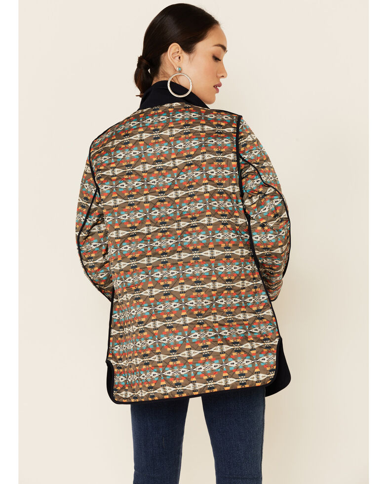 Pendleton Women's Meadow Reversible Quilted Snap-Front Jacket , Black, hi-res