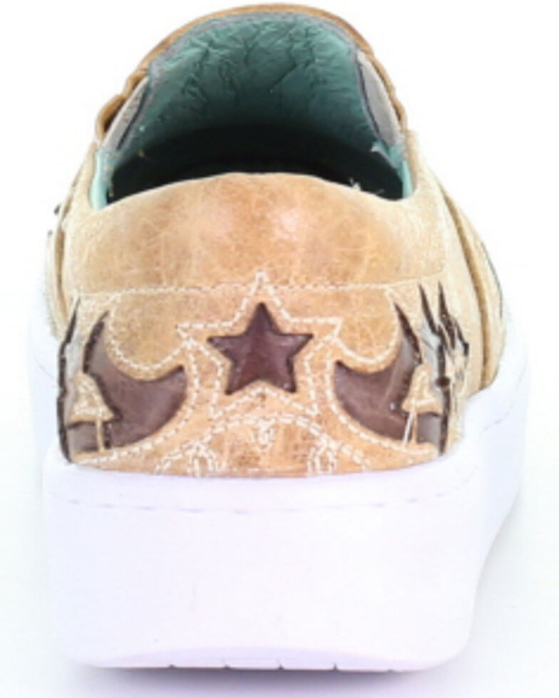 Corral Women's Straw Inlay & Embroidered Sneakers, Multi, hi-res