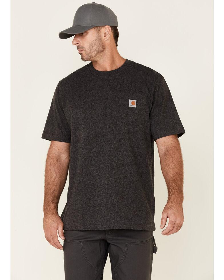 Carhartt Men's Workwear Pocket Short Sleeve Work T-Shirt, Charcoal Grey, hi-res