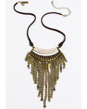 Idyllwind Women's Friday Night Fringe Necklace, Tan/copper, hi-res