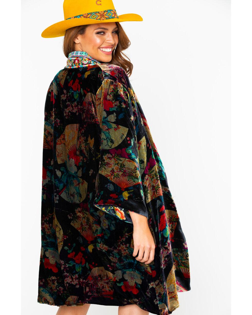 Johnny Was Women's Fusai Velvet Lined Kimono , Multi, hi-res