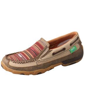 Twisted X Women's Multicolor ECO TWX Driving Moccasin Shoes - Moc Toe, Beige/khaki, hi-res