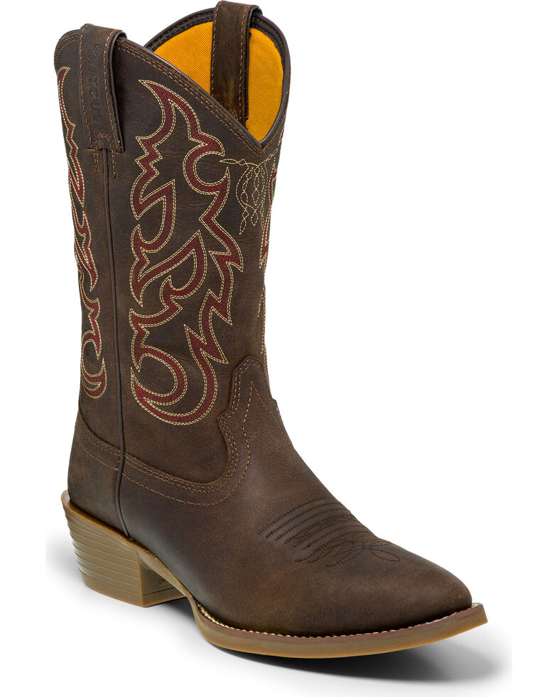 Justin Men's Dierks Brown Dusk Western Boots - Medium Toe , Brown, hi-res