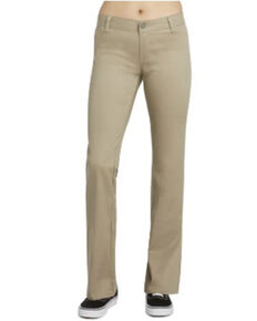 Dickie's Girl Women's Bootcut Work Pants, Beige/khaki, hi-res