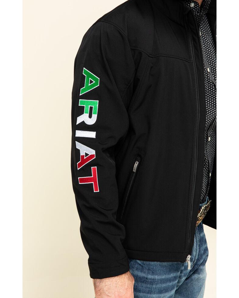 Ariat Men's Black Mexican Flag New Team Softshell Jacket , Black, hi-res