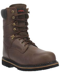 Laredo Men's Chain Work Boots - Soft Toe, Brown, hi-res