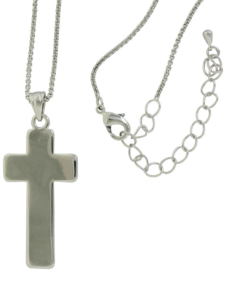 Montana Silversmiths Women's Radiating Rose Gold Cross Necklace, Rose, hi-res