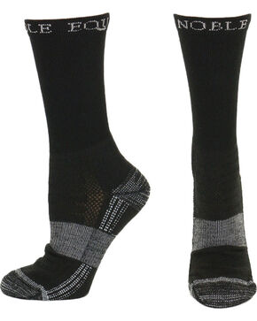 Noble Outfitters Equine Men's Best Dang Crew Socks, Black, hi-res