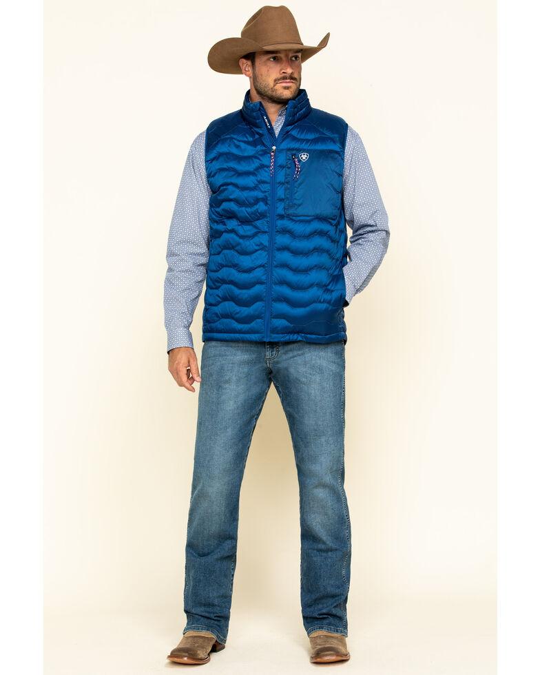 Ariat Men's Blue Ideal 3.0 Down Insulated Vest , Blue, hi-res