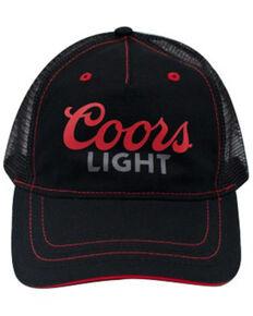 H Bar C Black Coors Light Logo Mesh-Back Trucker Cap, Black, hi-res