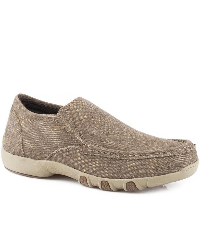 Roper Women's Brown Johnnie Slip-On Shoes , Brown, hi-res