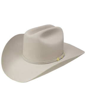 Stetson Men's El Presidente Premier Felt Hat, Silver Belly, hi-res