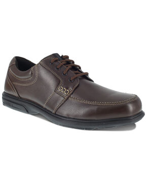 Florsheim Men's Brown Loedin Work Boots - Steel Toe, Brown, hi-res