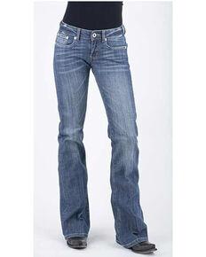 Stetson Women's Medium 816 Classic Bootcut jeans , Blue, hi-res
