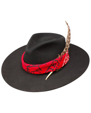 Stetson Men's D Blanco Wool Felt Hat, Black, hi-res