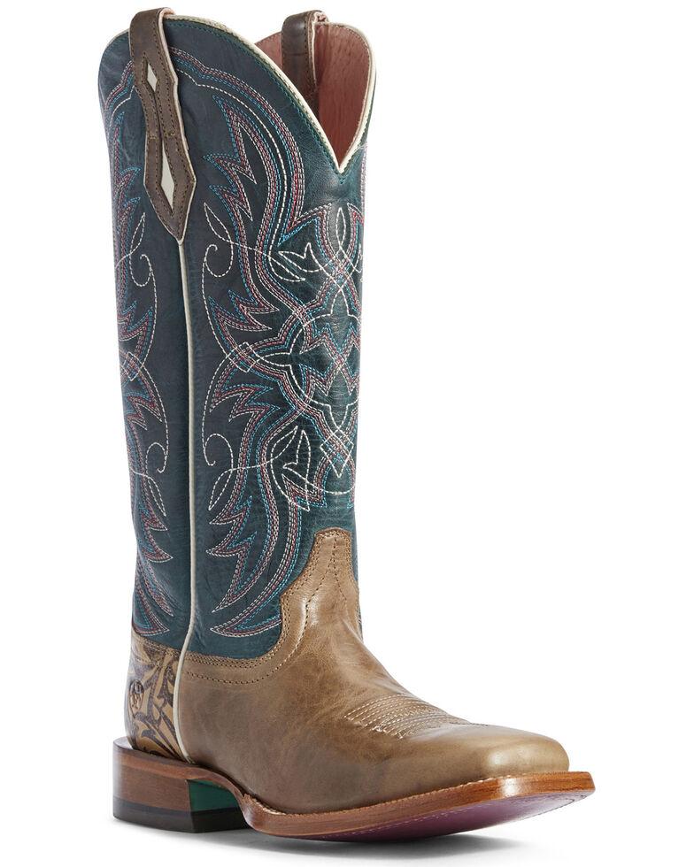Ariat Women's Everglade Caledo Western Boots - Wide Square Toe, Tan, hi-res