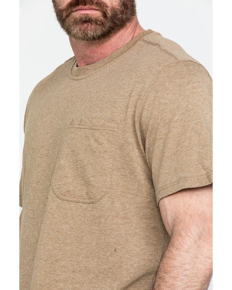 Hawx® Men's Pocket Crew Short Sleeve Work T-Shirt - Tall , Tan, hi-res