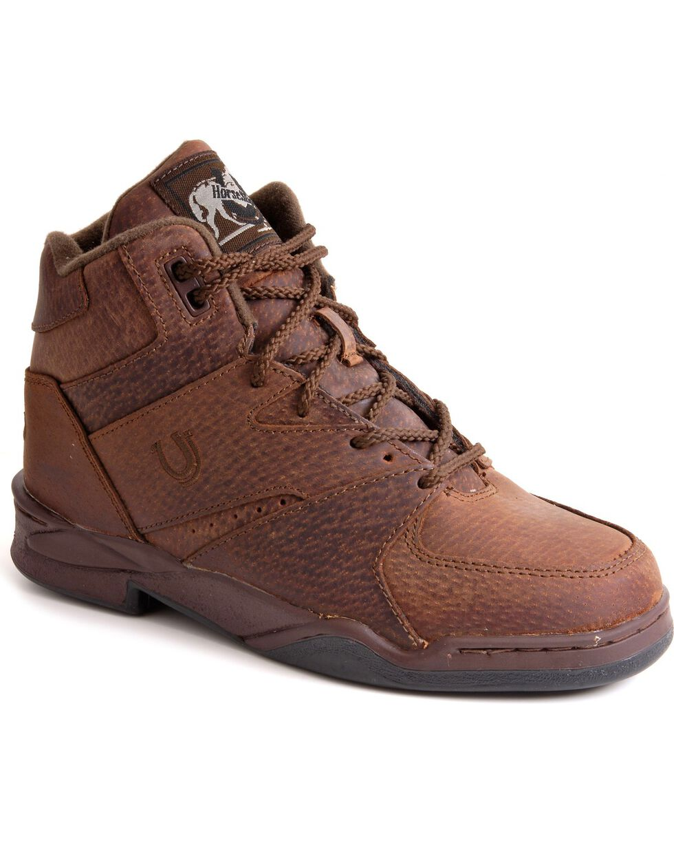 Roper Women's Athletic Lace-Up HorseShoes, Brown, hi-res