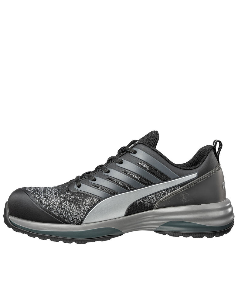 Puma Men's Charge Work Shoes - Composite Toe, Black, hi-res