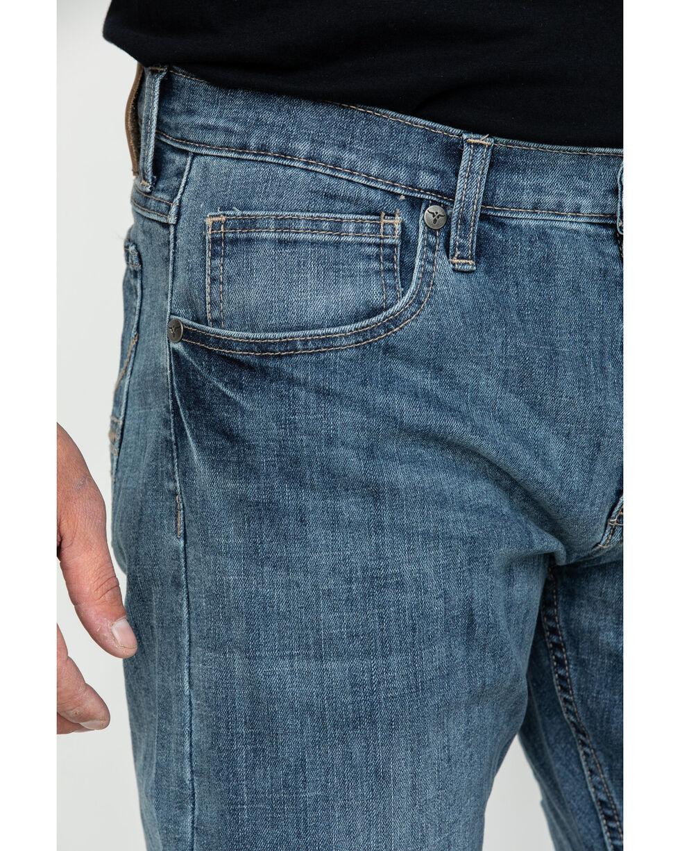 Wrangler Men's Light Denim Slim Boot Jeans , Blue, hi-res