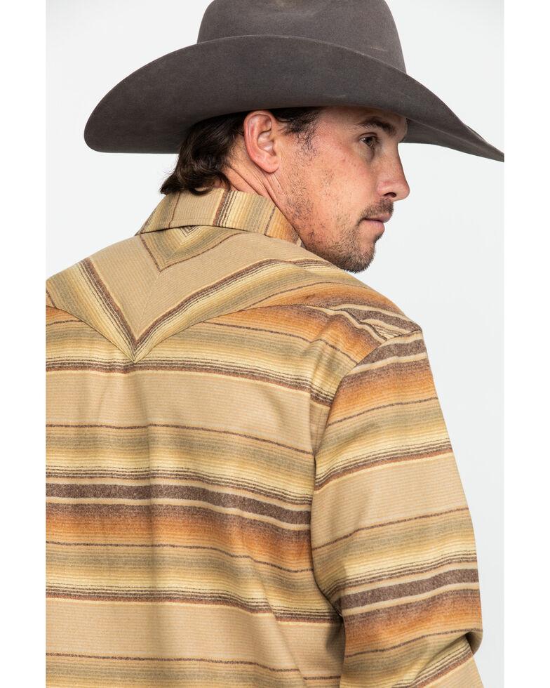 Pendleton Men's Tan Canyon Ombre Stripe Long Sleeve Flannel Shirt , Tan, hi-res