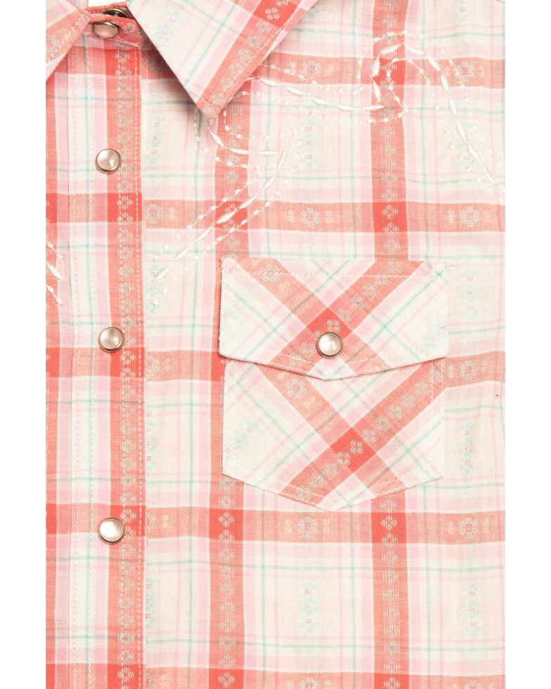 Shyanne Toddler Girls' Plaid Woven Short Sleeve Shirt, Ivory, hi-res