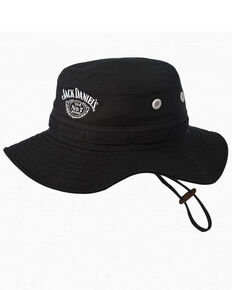 Jack Daniels Men's Black Twill Boonie Hat , Black, hi-res