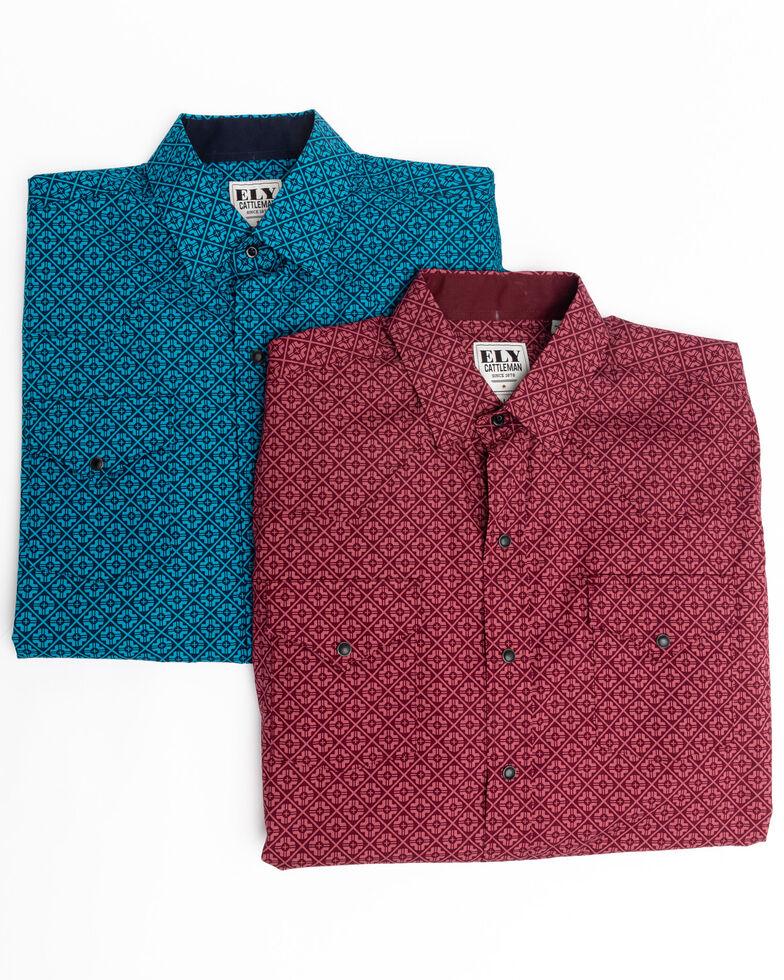 Ely Cattleman Men's Assorted Multi Ditzy Print Long Sleeve Western Shirt , Multi, hi-res