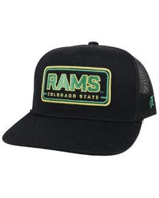 HOOey Men's Black on Black Colorado State Rams Mesh-Back Trucker Cap , Black, hi-res