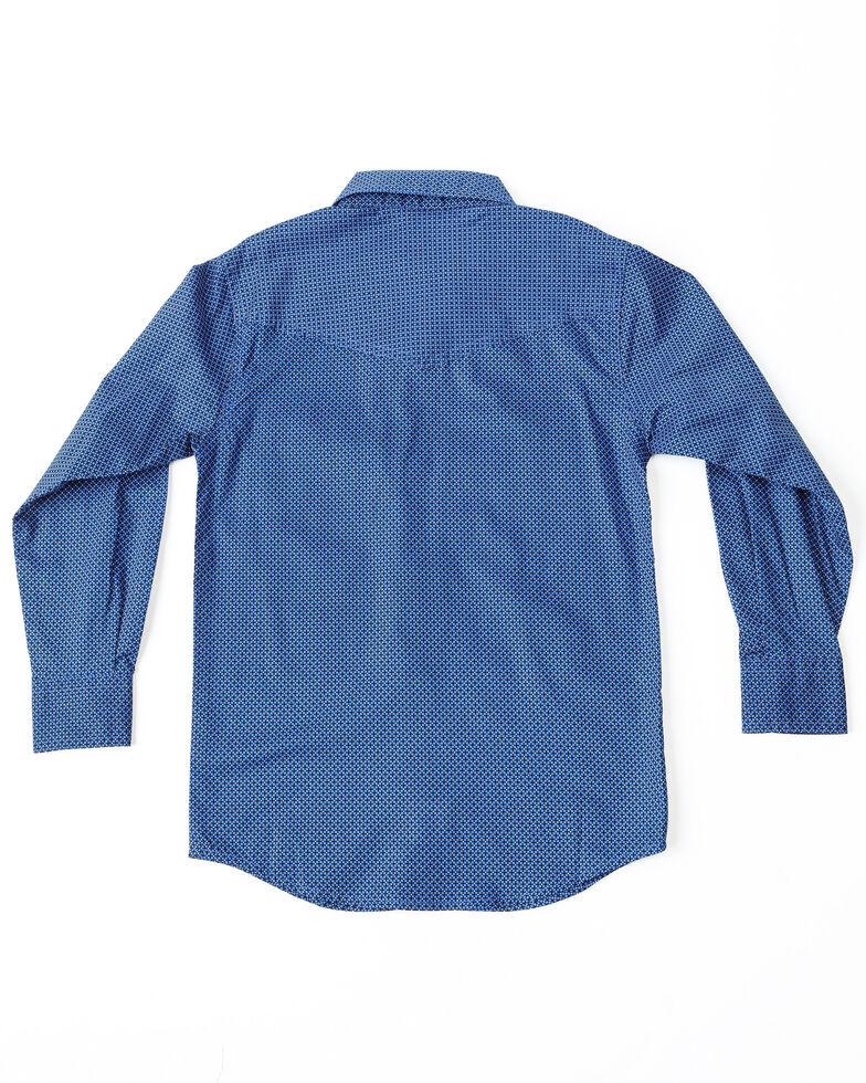 Cinch Boys' Print Snap Long Sleeve Western Shirt , Blue, hi-res