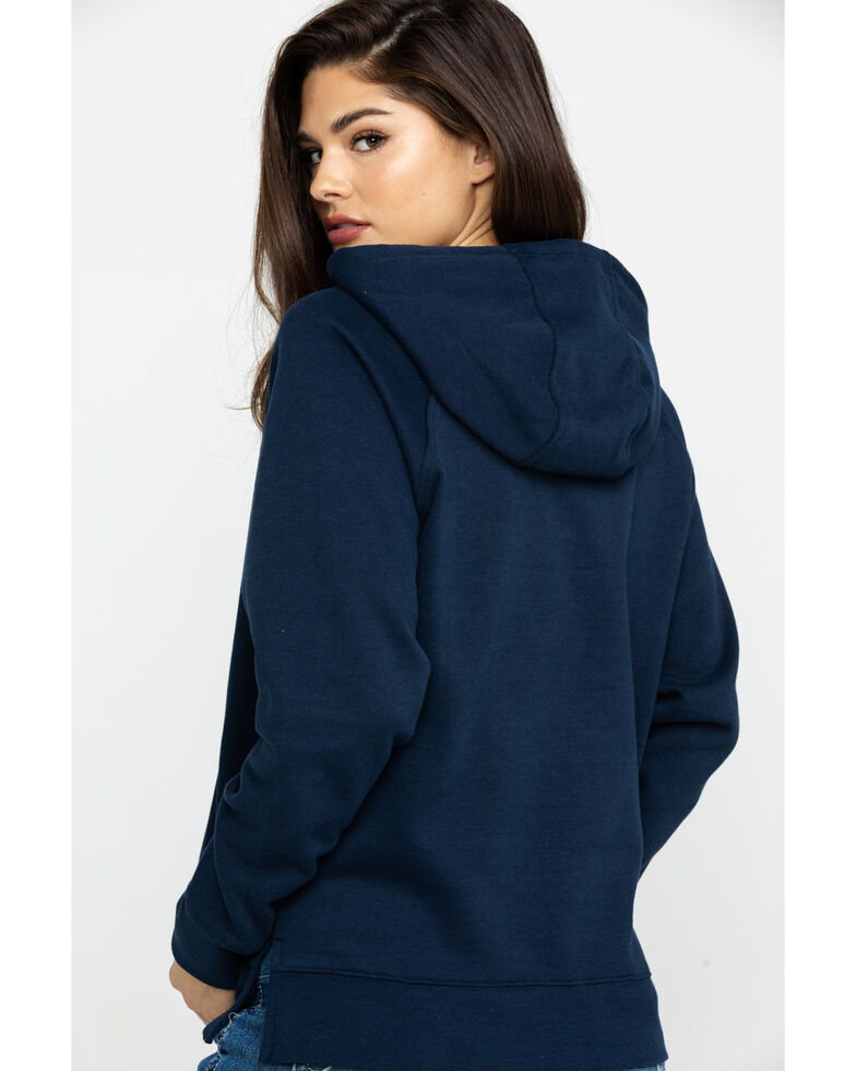 Ariat Women's Navy R.E.A.L. Sequin Hoodie, Blue, hi-res