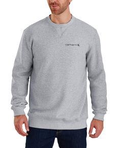 Carhartt Men's Midweight Graphic Crew Work Sweatshirt - Big , Heather Grey, hi-res