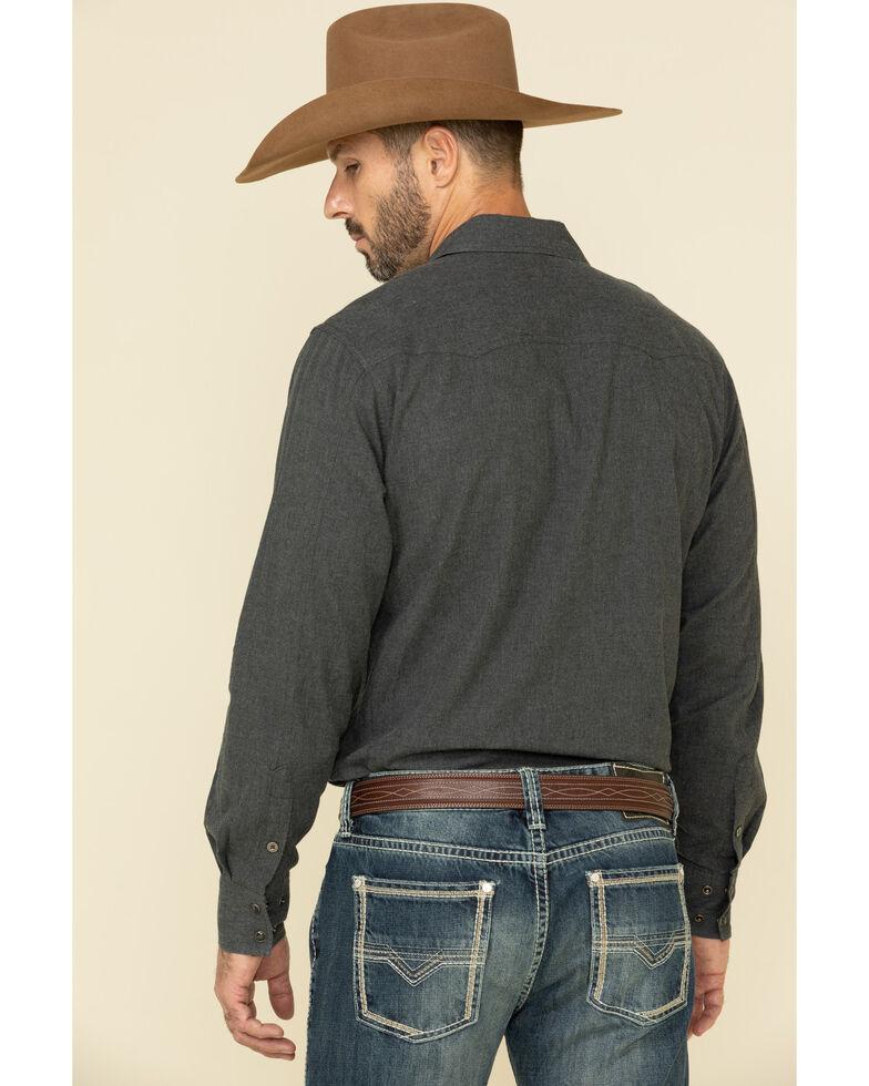Cinch Men's Heather Grey Herringbone Solid Long Sleeve Western Shirt , Heather Grey, hi-res