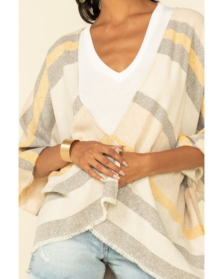 Shyanne Women's Multi Striped Belted Shawl, Multi, hi-res