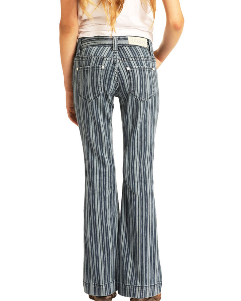 Rock & Roll Cowgirl Girls' Stripe Trousers, Multi, hi-res