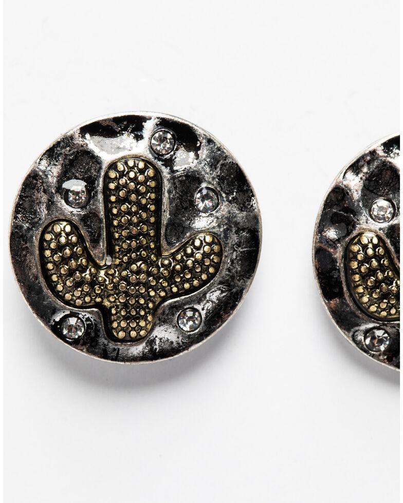 Shyanne Women's Summer Escape Mini Cactus Post Earrings , Tan/copper, hi-res