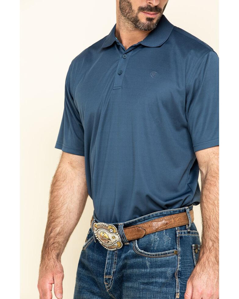 Ariat Men's Blue TEK Short Sleeve Polo Shirt , Blue, hi-res