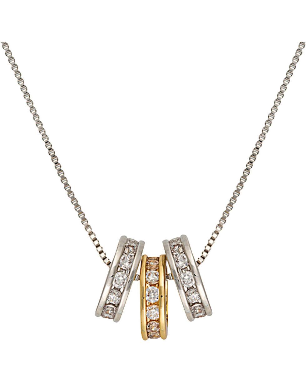 Montana Silversmiths Two-Tone Triple Shine Necklace, Silver, hi-res
