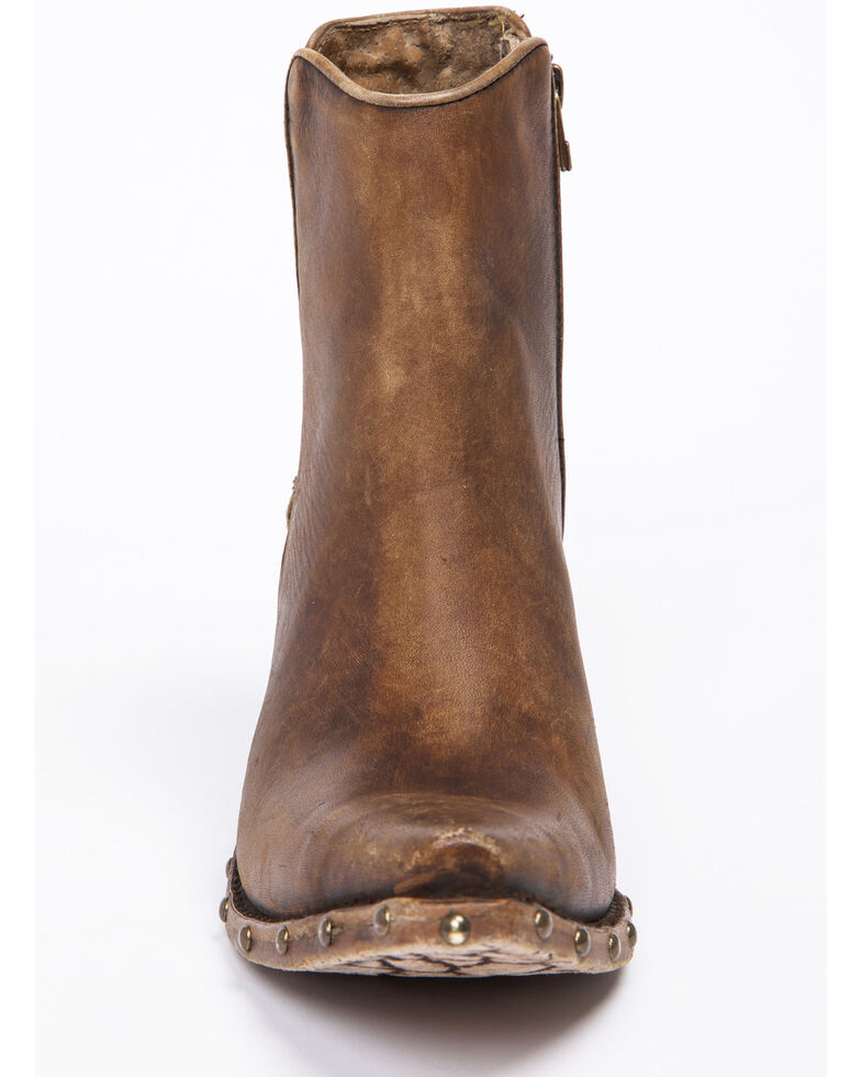 Ariat Women's Fenix Studded Sidewall Western Boots - Snip Toe, Brown, hi-res