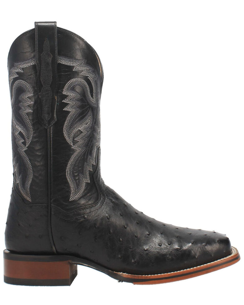 Dan Post Men's Alamosa Western Boots - Wide Square Toe, Black, hi-res