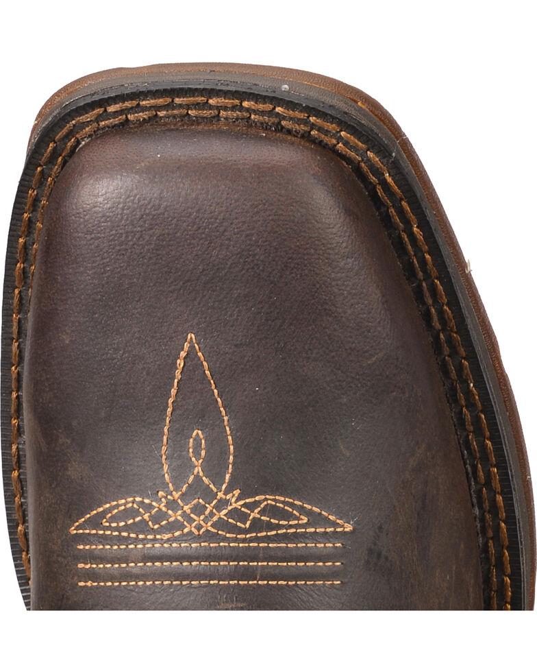 Durango Rebel Saddle Cowboy Boots - Square Toe, Brown, hi-res