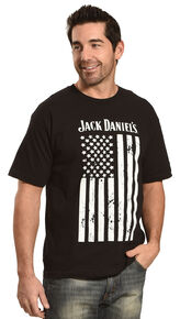 Jack Daniels Men's Black Flag Tee , Black, hi-res