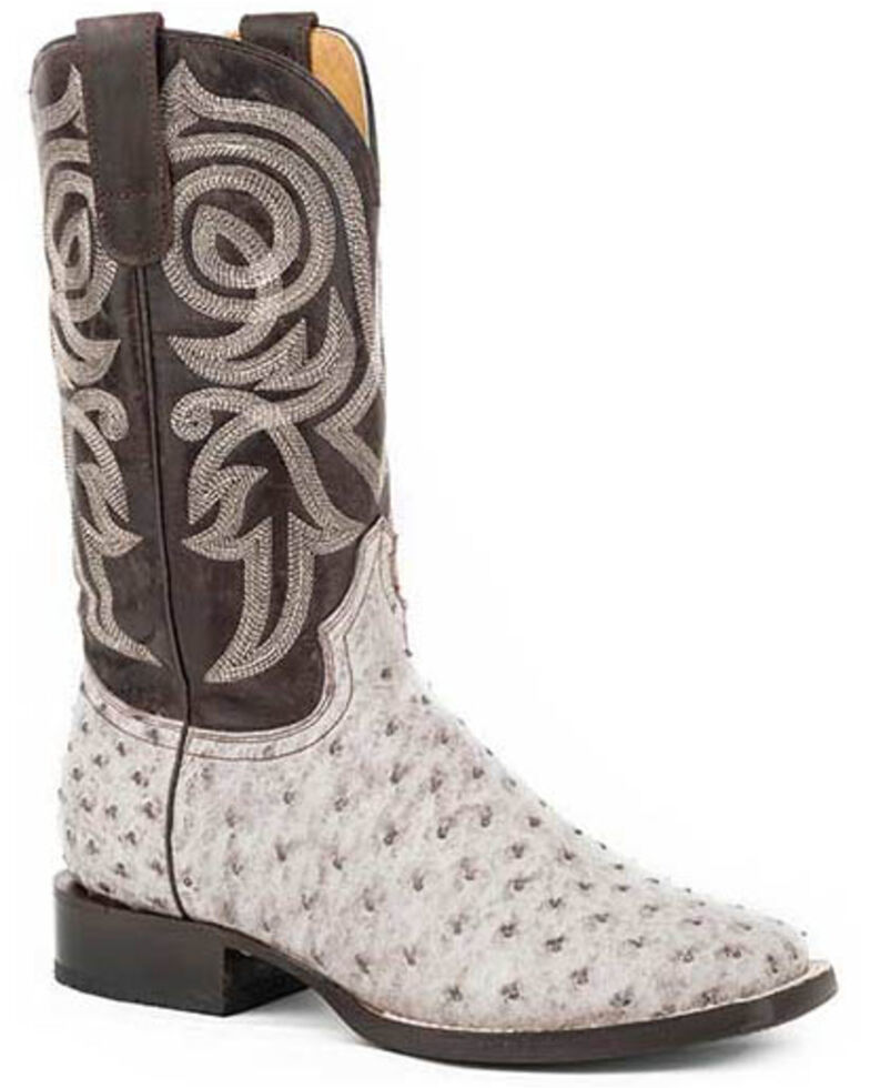 Roper Women's White Brushoff Western Boots - Round Toe, Brown, hi-res