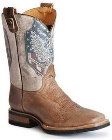 Roper Men's 2nd Amendment Western Boots - Square Toe, Tan, hi-res
